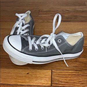 Gray low top Converse